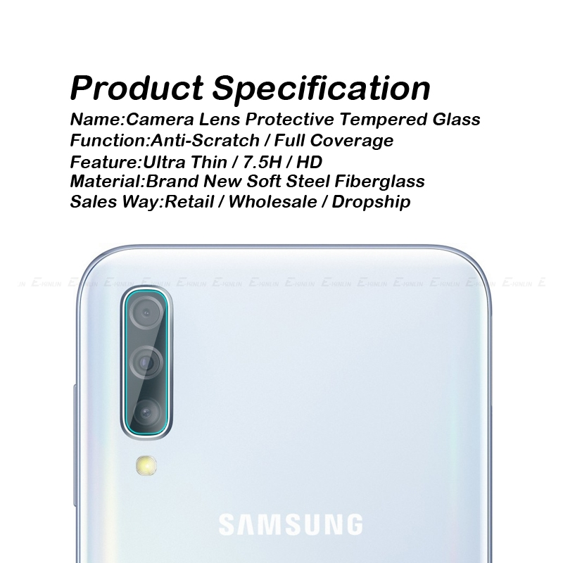 Image 3 - Back Camera Lens Tempered Glass For Samsung Galaxy A10s A10 A20 A20e A30 A40 A50 A60 A70 A80 A90 5G Protector Protective Film-in Phone Screen Protectors from Cellphones & Telecommunications