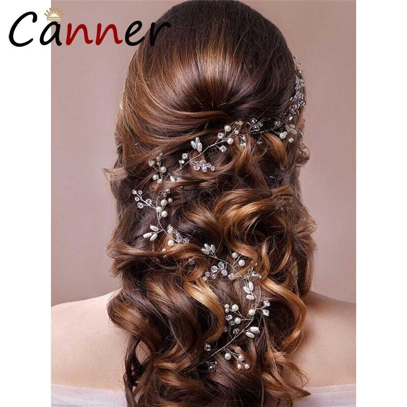 EINDOSER Exquisite Kristall Stirnband Barock Lange Perle Stirnband Strass Haarband Hochzeit Haar Zubehör Haar Schmuck FI