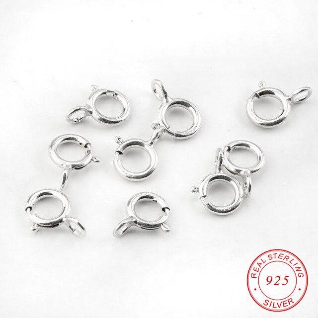 b95bc60eaebb 20 unids 5mm mejor calidad de plata primavera anillo cierres Ganchos 925  conexión para la hebilla