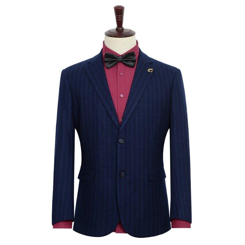 2019 frühjahr Neue männer Casual Anzug Hochzeit Abendkleid Jacke Blau Streifen Blazer Männlichen Große Größe Kleidung 6XL 7XL 8XL 9XL-in Blazer aus Herrenbekleidung bei  Gruppe 3