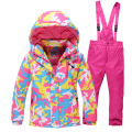 Children Outerwear Warm Coat Sporty Ski Suit Kids Clothes Sets Waterproof Windproof Boys Winter Jackets For4-14T