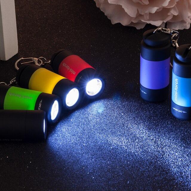2019 yeni anahtar zincirleri LED ışık el feneri lambası cep anahtarlık Mini fener su geçirmez