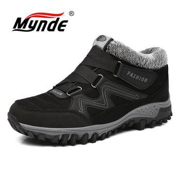 Mynde/Новые мужские ботинки, Зимние теплые плюшевые ботинки, повседневные мужские зимние ботинки, рабочая обувь, мужская обувь, модные ботильо...