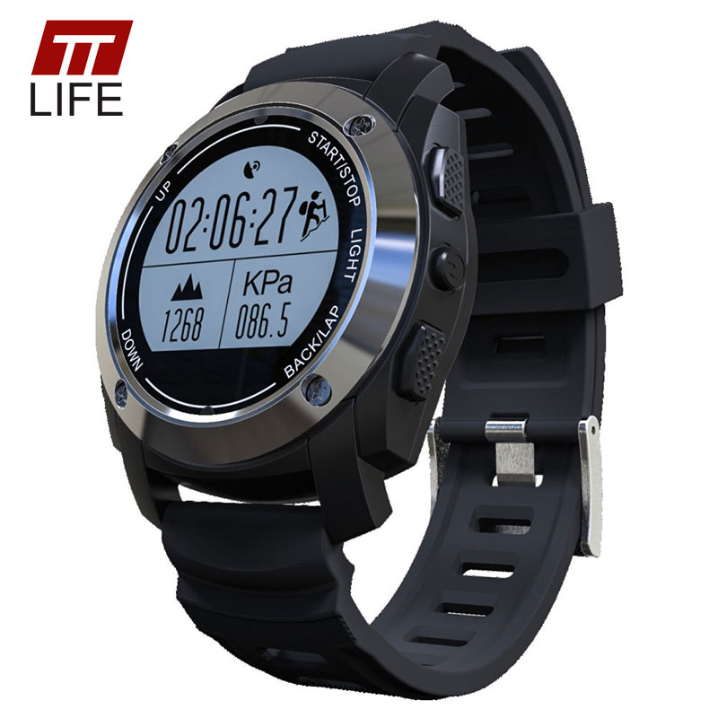 TTLIFE GPS Bluetooth Smart Watch Heart Rate Monitor Height Race Speed Sports Watch Outdoor Fitness Monitor Men Women Wristwatch smart baby watch q60s детские часы с gps голубые
