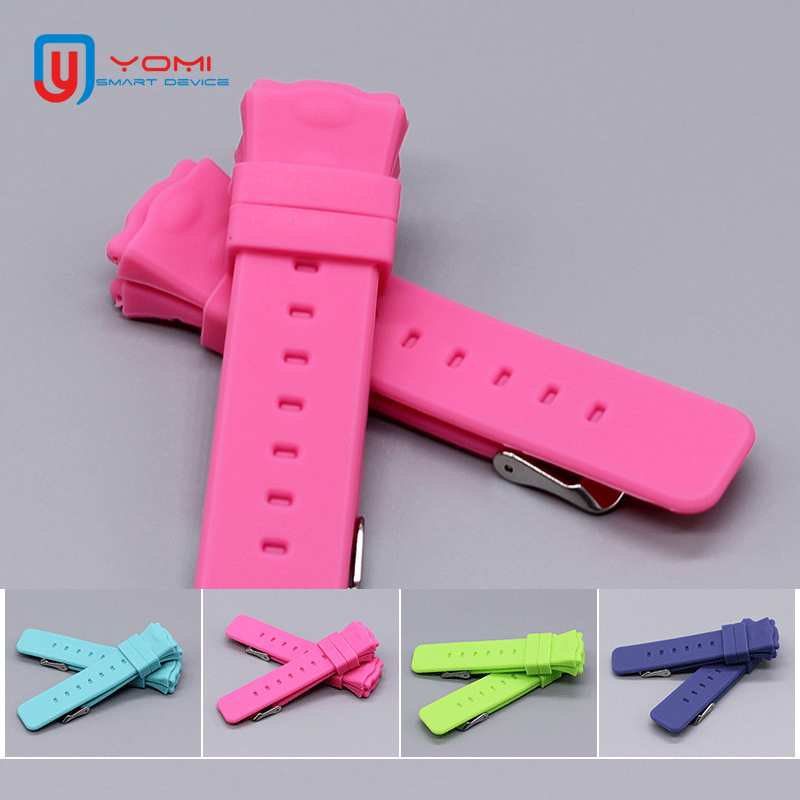 1 unids reemplazar correa para reloj inteligente Q50 Y3 GPS reloj inteligente niño bebé de silicona reloj correas de reloj de pulsera Correa Accesorios