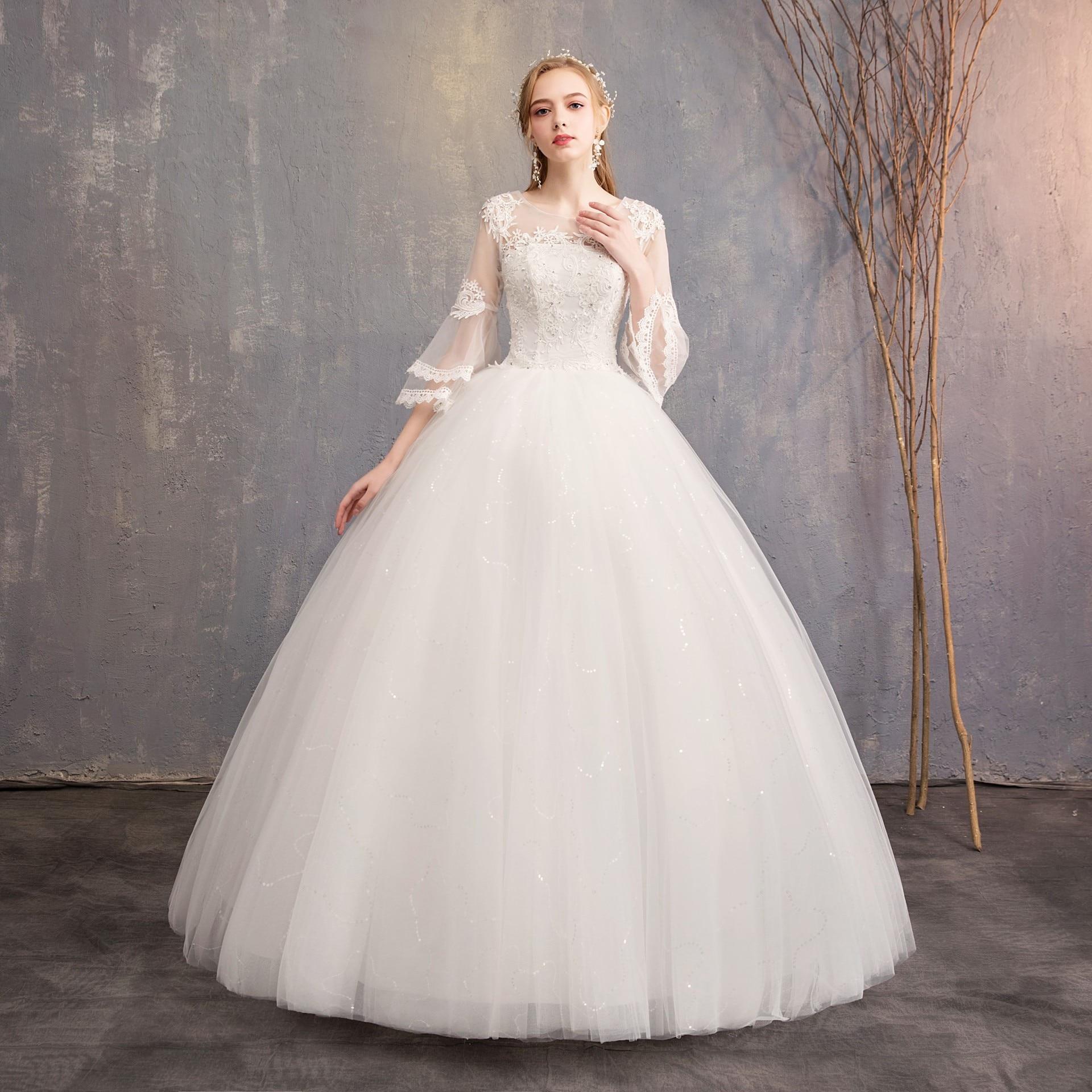 Full Ball Gown Wedding Dresses: 2019 New Arrival Do Dower Full Sleeve Wedding Dress Ball