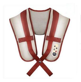 3d Knocking Kneading Cervical Shoulder Massage Belt Heating Vibrating Device Massager Gift Home Use Neck Electronic Vibration