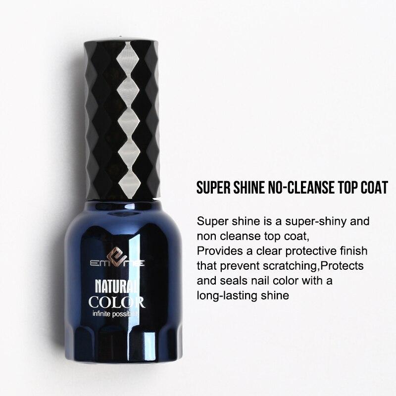 3 PCS/Set EMENE Rubber Base Coat Top Coat 0.5fl oz Matte Super Shiny No Wipe Top Coat Reinforce Gel Nail Polish Primer Gellak 3