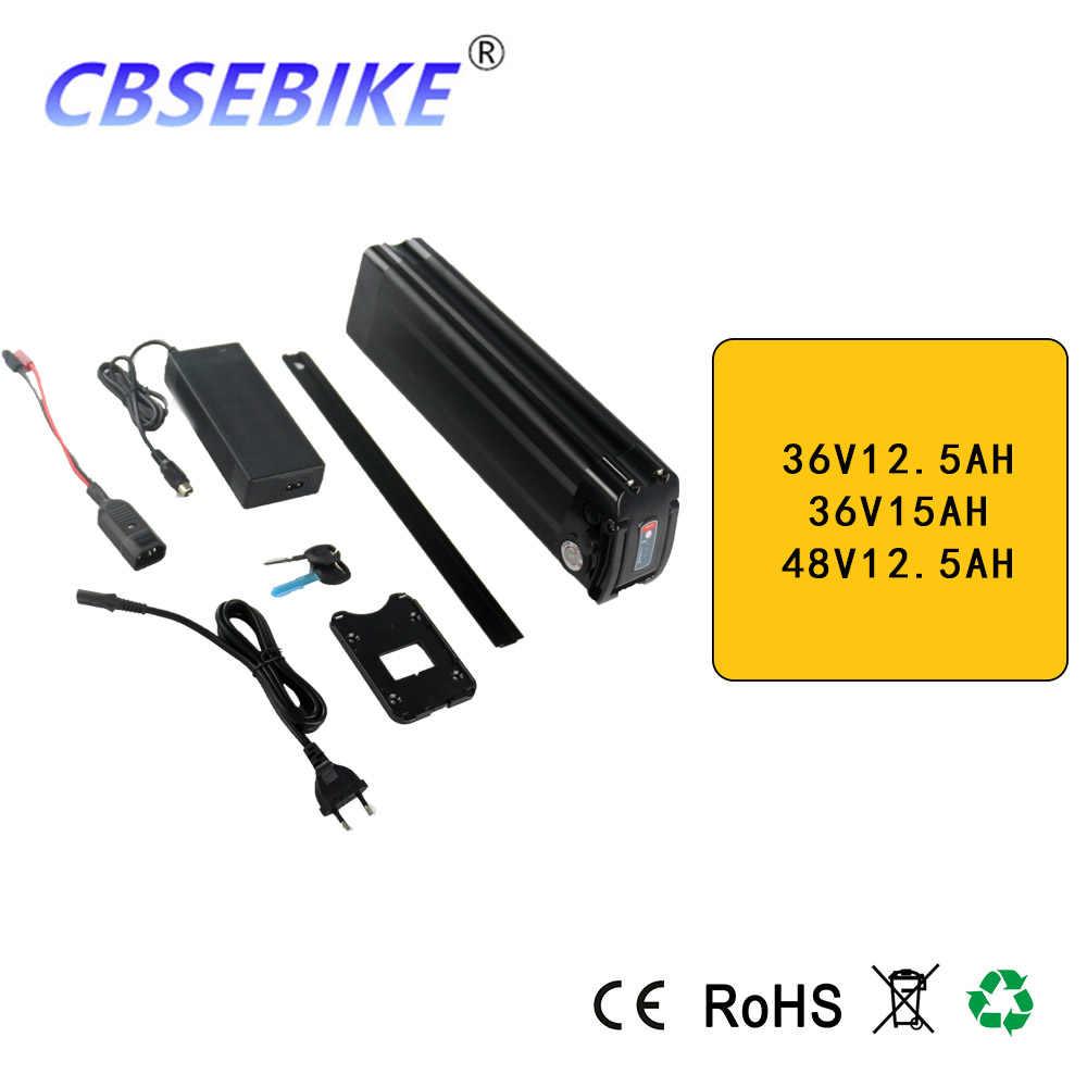 CBSEBIKE Ebike Lithium Battery  36V12.5AH 48v 12.5ah Electric Bike Battery with USB Port Fit 48v Bafang 1000w 750w Bbs02 Motor