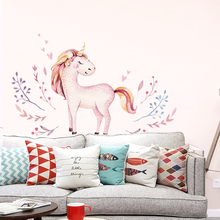 Cute Unicorn Wall Sticker Childrens Room Living Decoration Can be removed and easily pasted
