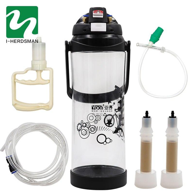 Cow Sheep Milking Machine Portable Electric Impulse Milker Double Teats Manual Milker Automatic Vacuum Pump Penis