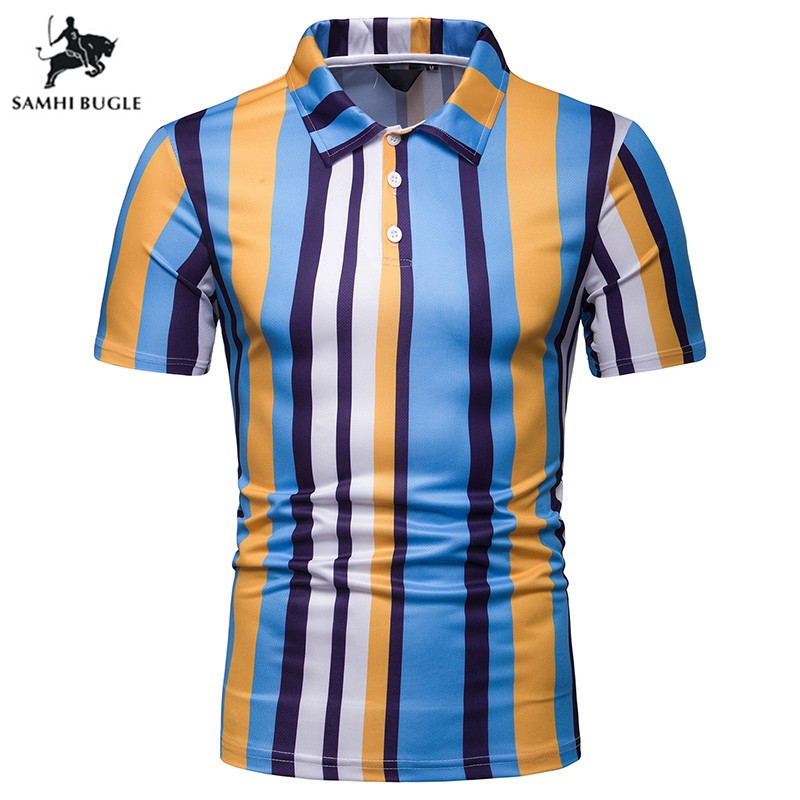 England Youth Short Sleeve   Polo   Homme 2019 Summer Cotton Blend   Polos   Para Hombre Brand Mens Casual Stripe Camisa   Polo   Masculina