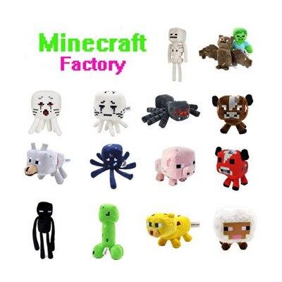 16 26cm My World font b Minecraft b font Zombie Ghost Doll Wolf Sketelon Enderman Ocelot