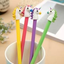 4Pcs/lot 0.38 mm Cute Unicorn Cartoon Gel Pen Promotional Gift Stationery School & Office Supply