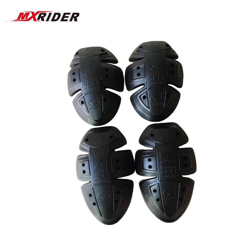 2018 Top Quality MOTO Soft Armour Protector YF602/603 Elbow/shoulder Knee Pads Set BLACK Replaceble PU Pad CE Approve kneeling