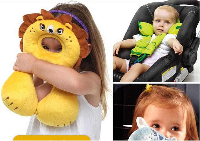 Promoties kawaii babyverzorging cartoon hoofdsteun kind reizen