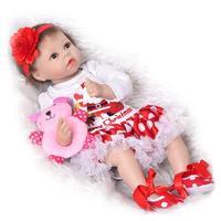 55cm Baby reborn doll Baby girl Dolls soft Silicone Boneca Reborn Brinquedos Bonecas children's day gifts toys bed time plamates