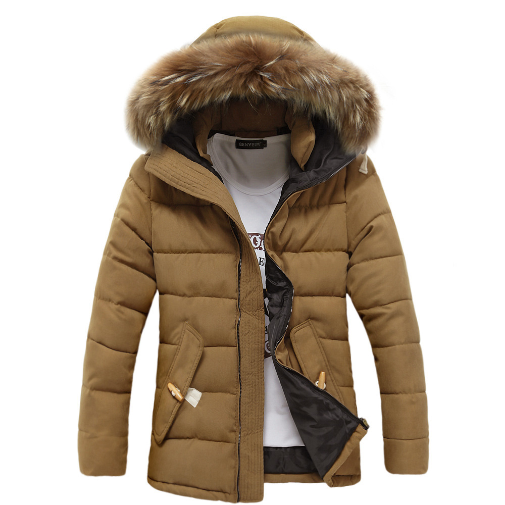 d77e2a58cd0 2017 Men's Winter Jackets Thick Hooded Fur Collar Parka Men's Warm Coats  and Jackets Fashion overcoats Hommer Male Clothing 3XL