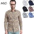 100% хлопок 2014 новая коллекция весна Высокого качества мужские рубашки вскользь звезда печати рубашка мужчины Slim fit марка рубашка 2 colorsbig размер