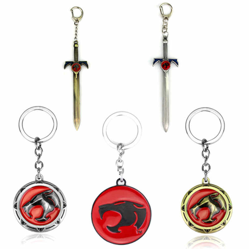 Anime Thundercat Keychain Fashion Metal Sword Car Key Holder Chain Pendants Keyrings Jewelry Gift Fans