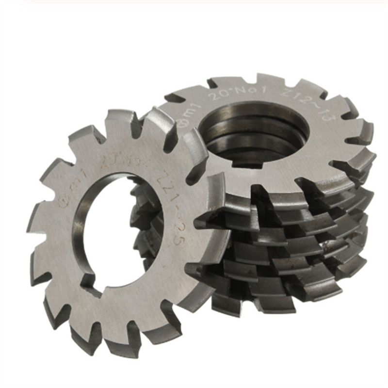 Image 2 - 8PCS NO.1 NO.8 M0.4 M0.5 M0.6 M0.7 M0.8 M1 M1.25 M1.5 M2 M3 M4 Modulus PA20 Degrees HSS Gear Milling cutter Gear cutting tools-in Milling Cutter from Tools
