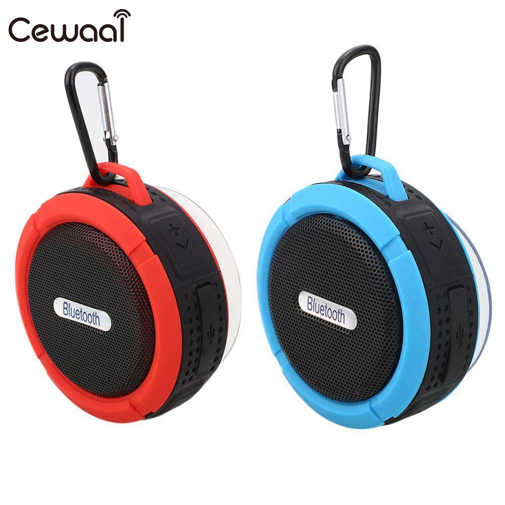 Cewaal Waterproof IP65 Wireless Bluetooth V3.0 Speaker Subwoofer In Car phonecall Music Handsfree HiFi TF Card Speakers