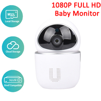 1080P Baby Monitor Two Way Audio Motion Detection Smart Security IP Camera Wireless Baby Camera Cloud Storage