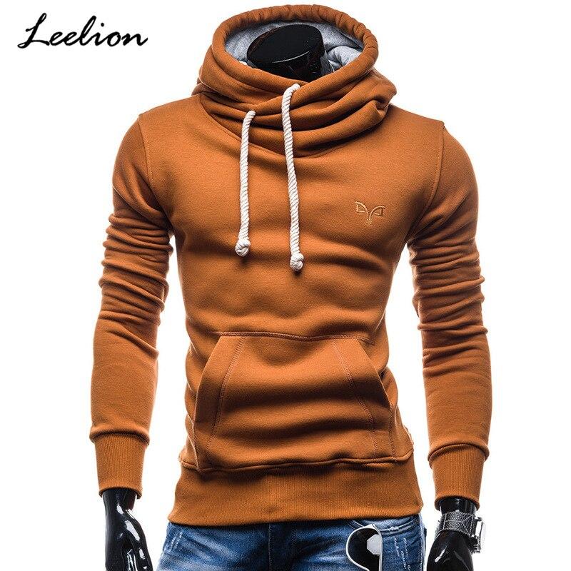 IceLion 2019 New Turtleneck Hoodies Men Hooded Sweatshirts Spring Fashion Solid Sportswear Men's Pullover Slim Tracksuits