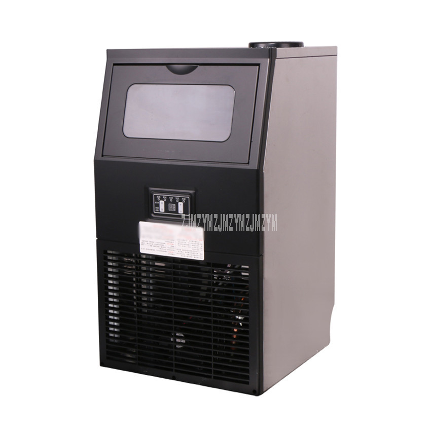 35KG/24H Automatic Electric Ice Maker Thickness Adjustable Ice Block Cube Making Machine For Bar Coffee Milk Tea Shop 220V ZB-30