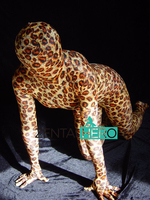 Free Shipping DHL Adult Sexy Fullbody Leopard Pattern Fashion Lycra Spandex Zentai Suit A029