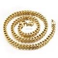 Nunca se desvanecen de 6 mm 24 '' de acero inoxidable puro oro Square collar con hombres de nueva joyería