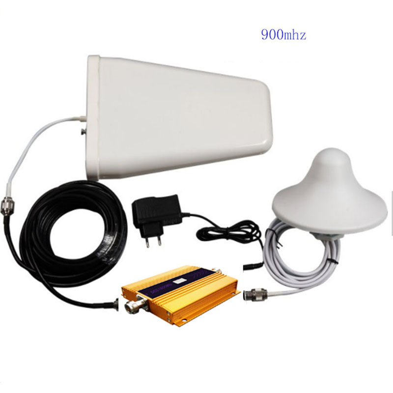 Alloy LCD GSM 900 MHz Mobile Cell Phone Signal Repeater Booster Amplifier Cellular Repeater Device With Antenna Cable