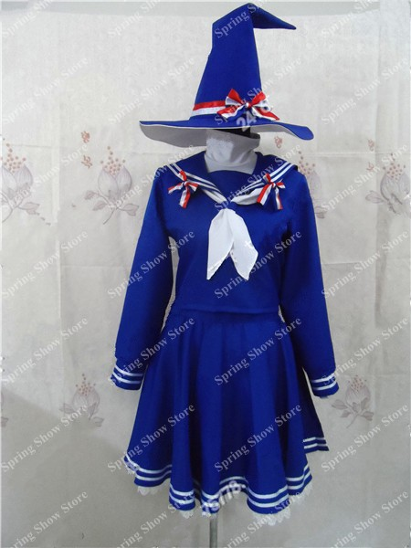 Wadanohara and the Great Blue Sea Wadanohara Anime Custom Made Uniform Blue Cosplay Costume the raging sea – great sea tales