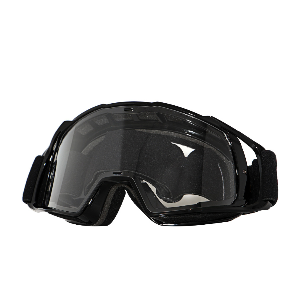 2017 NEW Airbrake Jet Black Pro Dirt Bike Motocross Goggles Motorcycle Off Road ATV MX Roll Off Goggles Clear Lens