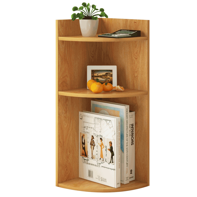 Multi Layers Wooden Bookcase Simple Table Storage Shelf Study Bedroom Sundries Storage Furniture Easy Assembly Book Shelf