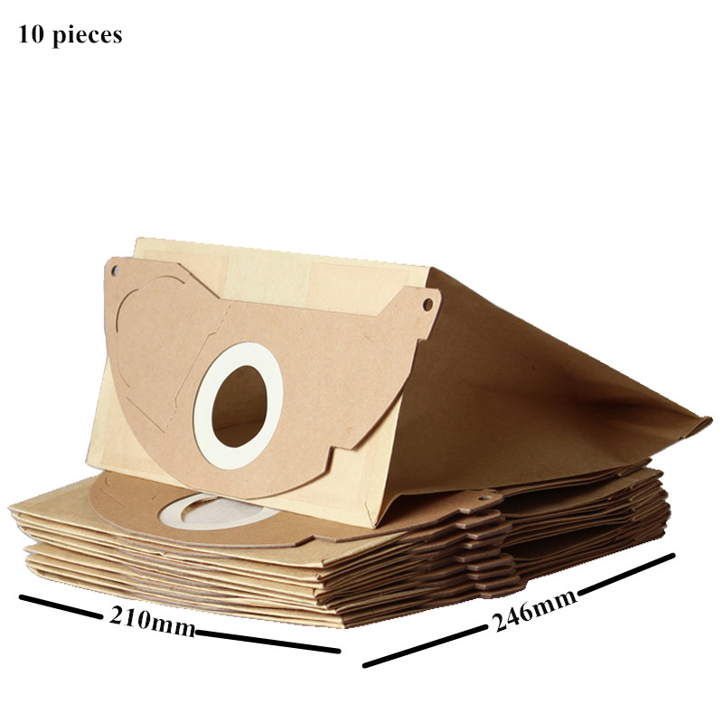 10x Vacuum Cleaner Paper Dust Bag for Karcher WD2.250 6.904-322 WD2200 A2004 A2054 A2024 WD2 цена