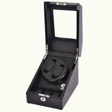 2 + 3 Черный Автоматический Моталки Часы и Деревянные Вращающиеся Часы Поле с автоподзаводом Дисплей