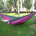 Outdoor or Indoor Parachute Cloth Sleeping Hammock Camping Hammock high quality multicolor TB Sale