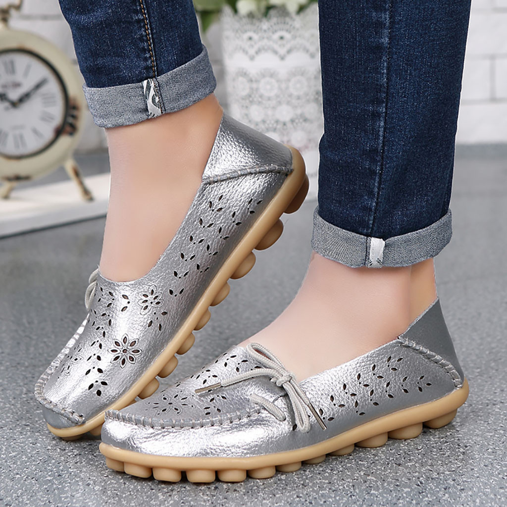 Frauen wohnungen schuhe Mutter Casual Loch Schuhe Krankenschwester Mit Flache Schuhe frauen Casual Fahr Schuhe moda mujer 2019 # BA30