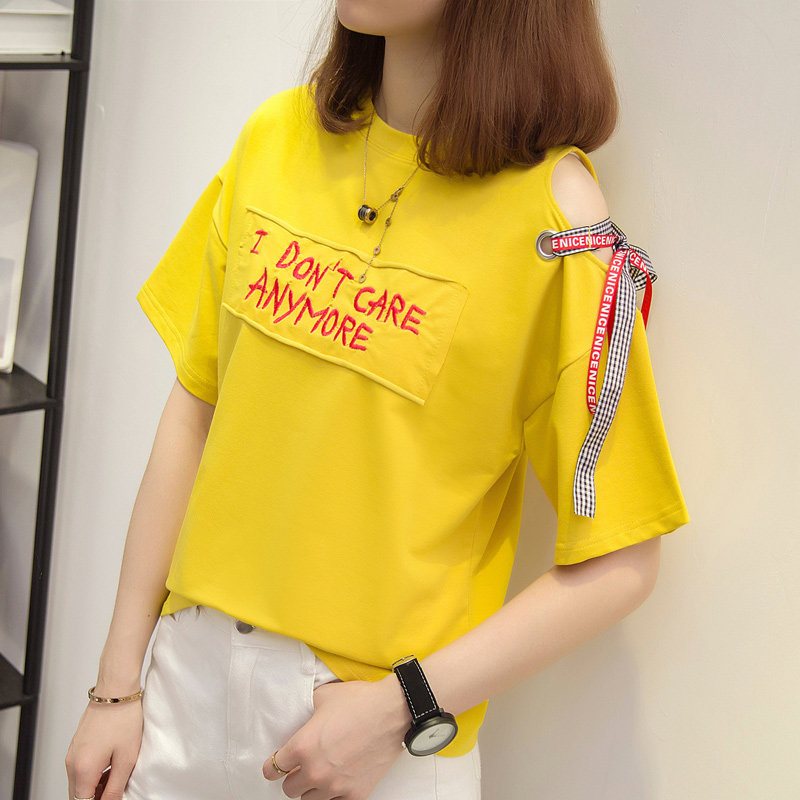 2019 Summer T Shirt Women Casual Korean fashion high quality Tops short Sleeve simple tshirt Female #T03-in T-Shirts from Women's Clothing on Aliexpress.com | Alibaba Group