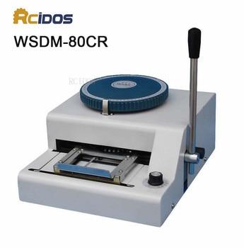 WSDM-80CR RCIDOS Manual Code Printer,PVC card embossing machine,Gravure printing machine.name card code printer