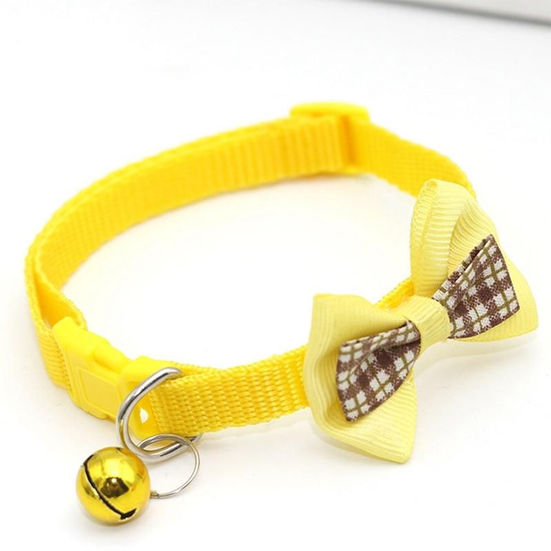 """1 шт., карамельный цвет, регулируемый галстук-бабочка, колокольчик, распродажа, ошейник """"галстук-бабочка"""", щенок, котенок, собака, кошка, домашнее животное, Прямая поставка - Цвет: YW2"""