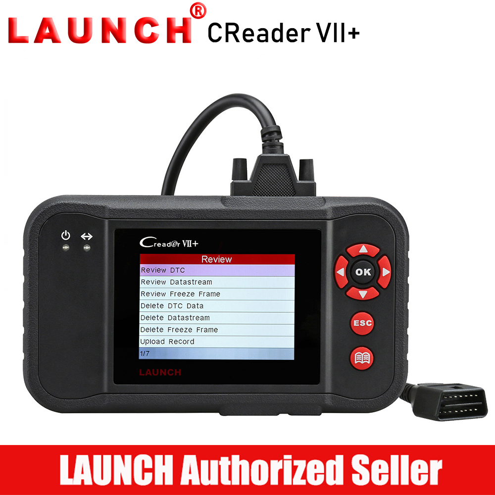 все цены на LAUNCH X431 Creader VII + OBD2 Scanner Car Diagnostic Tool Auto Code Reader Scanner Engine Transmission ABS Airbag онлайн