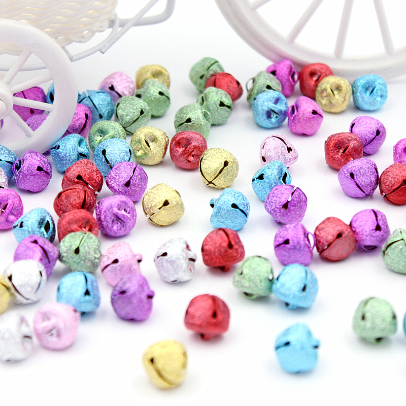 20Pcs Mixed Color Iron Loose Beads Bells Decoration Pendants Diy Handmade Christmas Craft Supplies