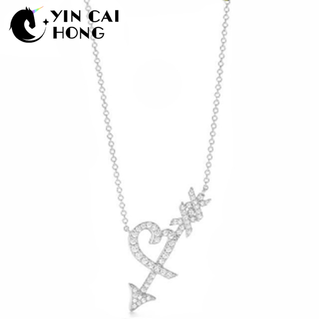 599736ac656 YCH Charm Gift 925 Sterling Silver Bow And Arrow TIFF Attractive Elegance  Temperament Necklace World Jewelry