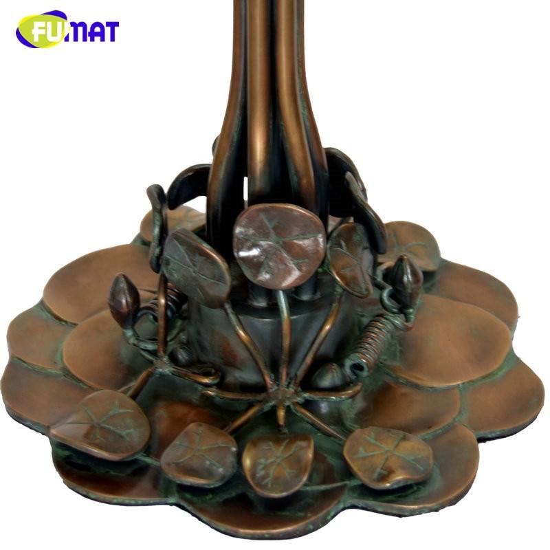 FUMAT Glas Kunst Tischlampe Qualität Europäischen Stil Seerose - Innenbeleuchtung - Foto 5