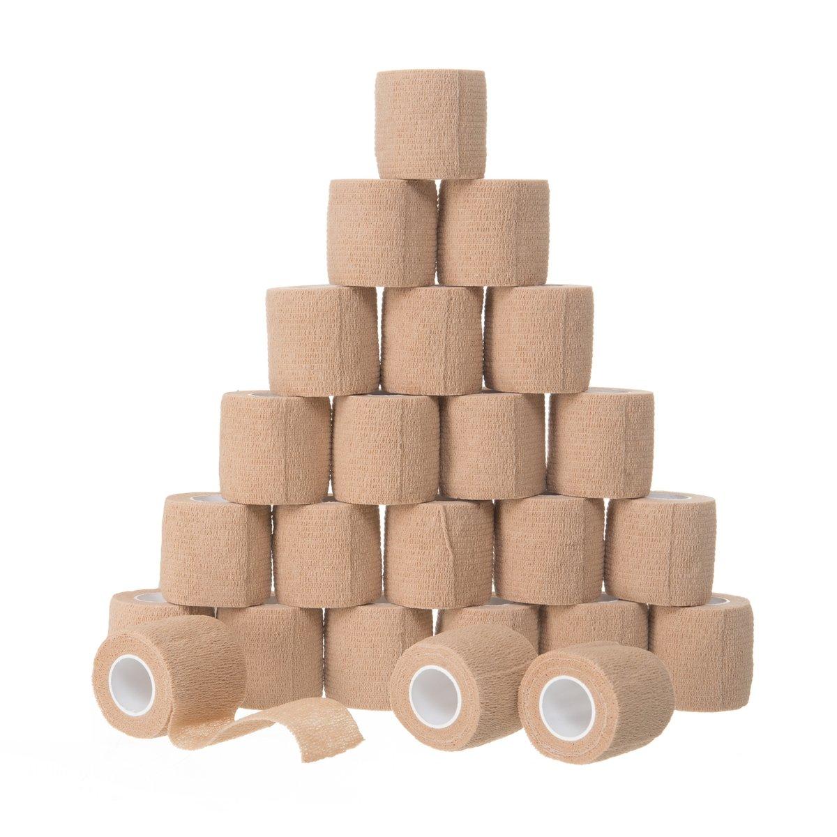 10Pcs Sports Athletic Tape Self-adhesive Bandages Premium-Grade Medical Stretch Wrap Pet Elastic Cohesive Bandage Elastoplast