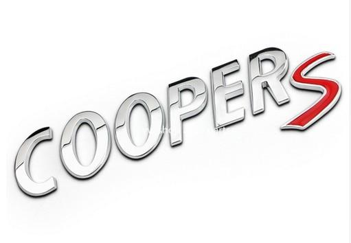 Black Edge Red S Metal Letter Emblem Badge for MINI Cooper Rear Boot Hatch Lid