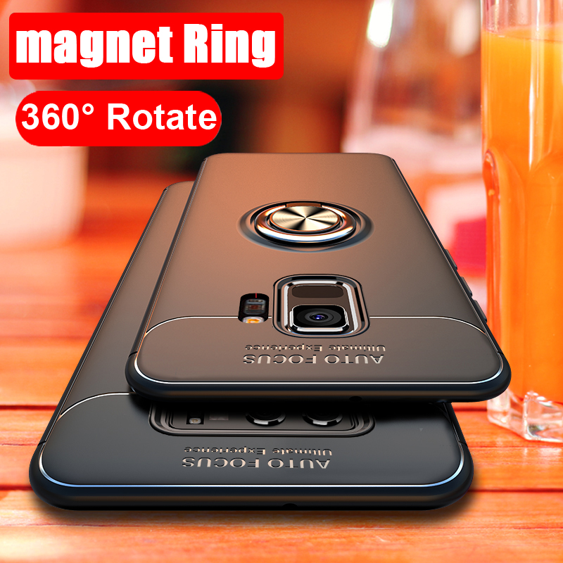 360 Rotating Magnetic Silicone Case For Samsung Galaxy S9 S8 A6 Plus Note 8 9 J4 J6 J8 A7 A9 2018 Cover magnet holder TPU coque image