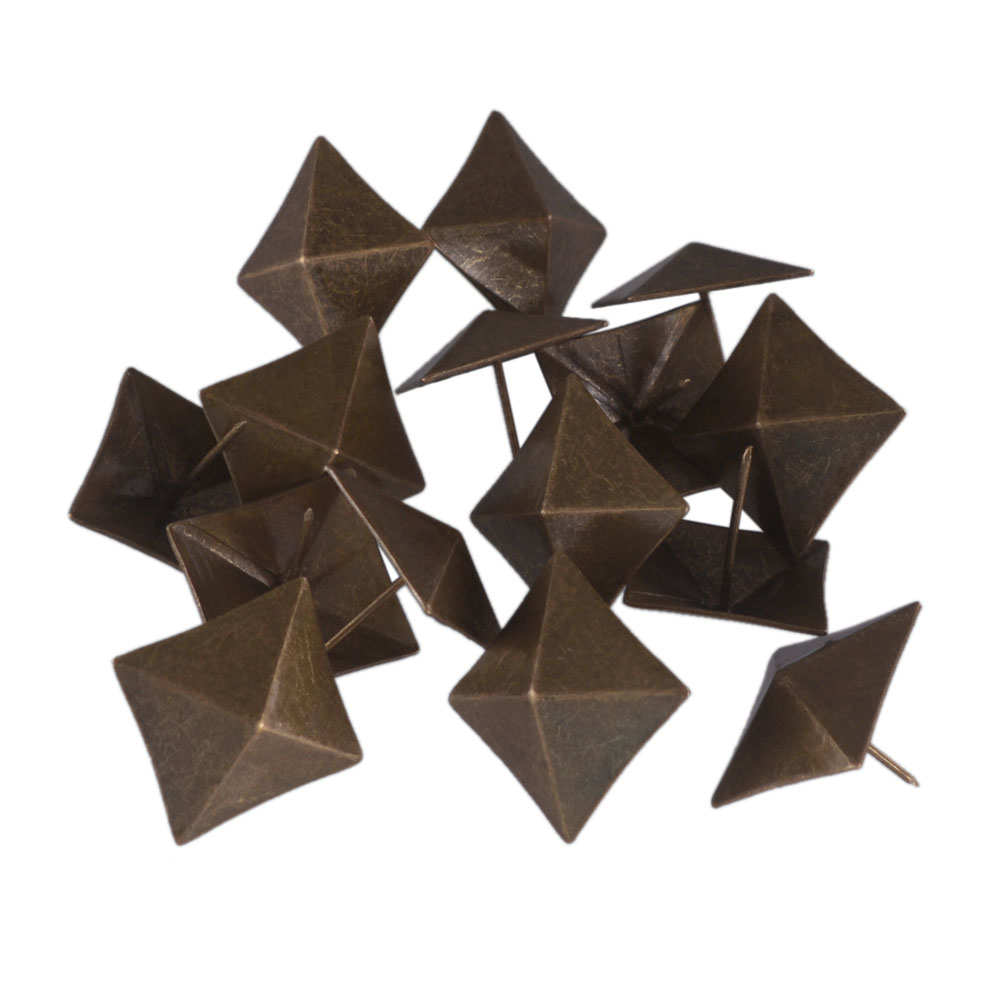 40 x 40mm Replacement Bronze Antique Square Upholstery Nails Tack Pyramid Studs Vintage Furniture  Pack of 1540 x 40mm Replacement Bronze Antique Square Upholstery Nails Tack Pyramid Studs Vintage Furniture  Pack of 15